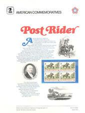 #16 8c Post Rider Stamp #1478  USPS Commemorative Stamp Panel