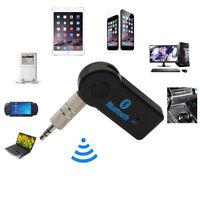 Wireless Bluetooth 3.5mm AUTO AUX Audio Stereo Ricevitore Adattatore+mic per PC