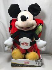 "NEW Disney MICKEY MOUSE 40"" x 50"" Soft THROW BLANKET & PILLOW Plush Figure"