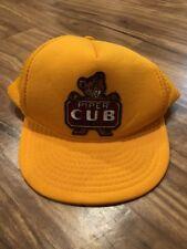 Piper Cub Aircraft Airplane Yellow Snapback Hat Cap Mesh Snap Back Trucker Hat