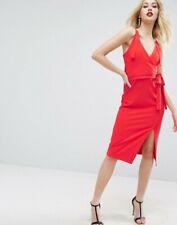 Sexy Valentine Wrap Dress, Red Dress, Size UK 12, V- Neckline, #MatchingTieWaist