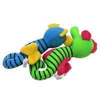 Pet Dog Puppy Plush Seahorse Shape Squeaky Bite-resistant Molar Chew Toy Eager