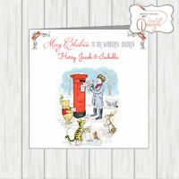 Personalised Winnie The Pooh Christmas Card Kids Daughter Son Grandchild Nephew