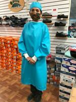 Surgical/Isolation Gown Washable/Reusable for Use in Hospital,  Aqua Color