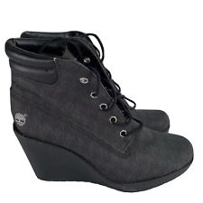 Timberland Women's Ladies Wedge Ankle Boots Grey Size UK 6 EUR 39