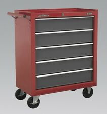 Sealey Red ROLLCAB 5 Drawer With Ball Bearing Runners AP22505BB
