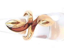 VTG Trifari Contemporary Gold Tone Ring 5 1/2