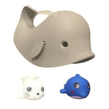 The Delightful Whale Bathtub Spout Cover & Bath Toys Set of 3 by SunKewl