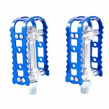 MKS BM-7 Alloy Anodized MTB BMX Old School City Flat Bike Pedal - Blue s