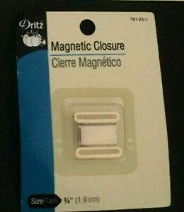 DRITZ MAGNETIC SEW ON SNAP CLOSURES ROUND-SQUARE ANTIQUE-BLACK -SILVER AND GOLD