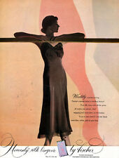 Brown Slip by Fischer Heavenly Silk Lingerie WORDLY BEWITCHING 1948 Print Ad