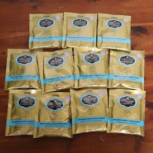 Lot of 11 Hask Morocco Argan Oil Intense Deep Conditioning Packets Travel Size