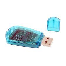 Lecteur de Carte SIM Cell Mobile USB Ordinateur PC Portable - Neuf