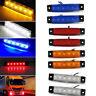 10X 12V 6 LED Side Marker Indicators Lights Rear Lamp for Car Truck Trailer Bus