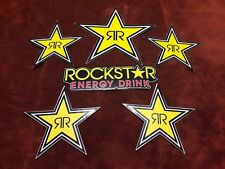 "(6) ROCKSTAR ENERGY DRINK DECAL STICKER LOT! 7"" 10"" STARS"