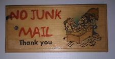 No Junk Mail Sign, Front Door Plaque House Home Work Notice 46