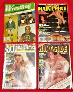 lot of 4 vtg 1983 Wrestling magazines: Hulk Hogan, the Von Erichs, Kimala, Flair