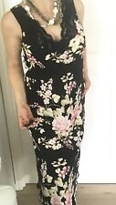 OSCAR DE LA RENTA WOMENS DRESS NIGHT GOUN Floral Print Midi Sz M