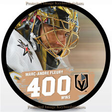 MARC-ANDRE FLEURY 400th WIN HOCKEY PUCK 2018 VEGAS GOLDEN KNIGHTS - Licensed