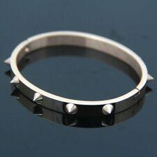 Titanium Steel Solid Bracelet With Spikes Punk Rock Style Rivets Bangle Premium