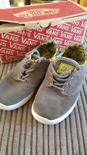 Vans ISO 1.5 Junior Grey And Lime Suede Uk Size 13 Kids