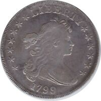 1799 Draped Bust Silver $1 in VF