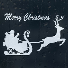 Merry Christmas Santa Claus Rides In A Sleigh Car Decal Vinyl Sticker