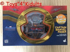 🔥 Hot Toys LMS 009 Avengers Endgame Captain Marvel Life-Size Pager NEW