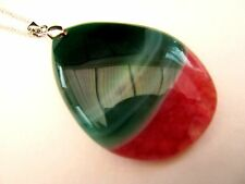 Totally Natural Banded Onyx In Deep Rose And Rare Green Together (nk1461)