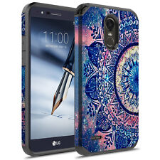 For LG Stylo 3/Plus/LG LS777 Hybrid Graphic Fashion Cute Colorful Silicone Case