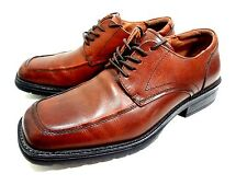 GBX Tan Leather Square Toe Oxford Lace Up Casual Dress Mens Shoes 8 M