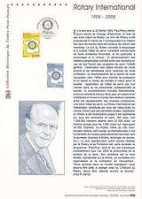 Document Philatélique Timbre 1er Jour : 19/02/ 2005 - Rotary International