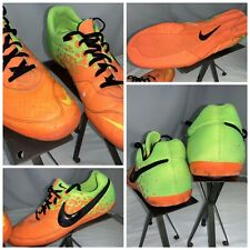 Nike Elastico II Sz 12 Men Neon Orange Indoor Soccer Shoes Mint Cond YGI I0S-112