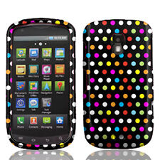 For Samsung Galaxy S Aviator R930 Rubberized HARD Case Phone Cover Rainbow Dots