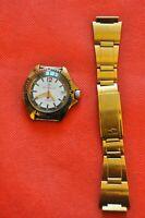 MINT Vintage Zakaz MO USSR VOSTOK Komandirskie watch white dial big12, 2414a