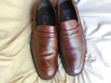 Men's Johnston Murphy XC4 Waterproof Loafers Size 9 (D,M) Solid Brown Sheepskin