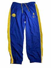Golden State Warriors Nike Nylon Joggers Loose Blue Yellow Stripe XXL