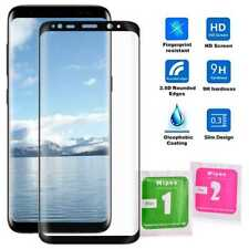 Protector Cristal Templado 3D para Samsung Galaxy S8 Negro 9H Curvado