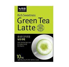 Korean Green Tea Latte Matcha Latte Powder [10 sticks] Instant Latte Sweet