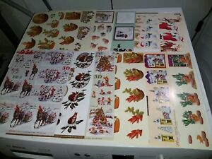 12X 3D SHEETS FOR HOBBYCRAFTS SCISSORS NEED 30X21 CM NEW (A1536) CHRISTMAS
