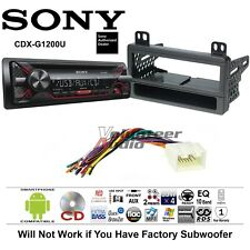 Sony CD Car Stereo Radio Kit Dash Installation Mounting With Wiring Harness