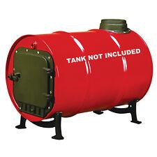 Barrel Stove Kit Door Leg Steel Drum Wood Heater Fireplace Converter Heavy-Duty