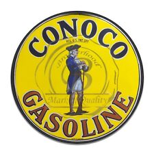 Vintage Design Sign Metal Decor Gas and Oil Sign - Conoco Oil and Gasoline