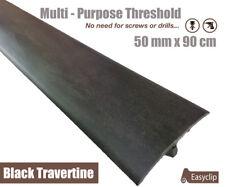 Black Travertine Multi Floor Threshold Strip 50mmx90cm Multi-Height/Pivot