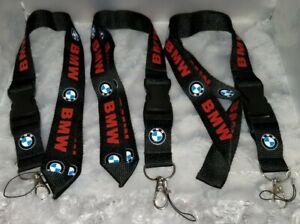 Lot of 3 - BMW Lanyard Stylish Detachable -  Black