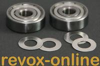 Bandlauflager + 4 Distanzscheiben für Studer Revox A77 MK IV, 1 Satz, 2 Stück