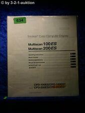 Sony Bedienungsanleitung CPD 100ES EST 200ES EST Multiscan 100ES 200ES (#0634)