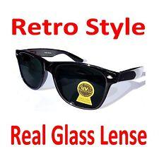 Glass Smoke Lens Sunglasses Spring Hinge Real Glass Lenses
