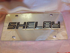 Shelby Mustang  License Plate Colors - Silver/Black NEW!!