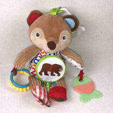 "Eric Carle Bear Activity Baby 9"" Crib Toy Developmental Rattle Crinkle Textured"